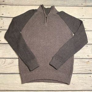 Aeropostale two tone gray mock neck sweater L